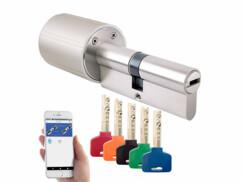 Cylindre de porte électronique TSZ-570 avec 5 clés programmables.