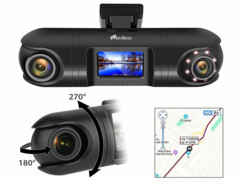 Double caméra embarquée QHD 360° avec accéléromètre et vision nocturne