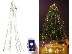 Guirlande connectée pour sapin de Noël avec 6 fils et 240 LED
