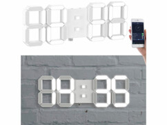 Horloge LED connectée avec réveil Lunartec.