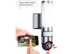 Lampe d'extérieur avec caméra IP intégrée.