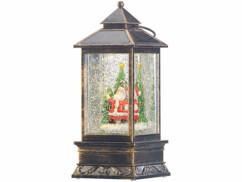 Lanterne à LED de Noël avec neige tourbillonnante Infactory.