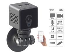 mini caméra de surveillance cube avec application et ventouse fixation portes meubles ipc60 mini