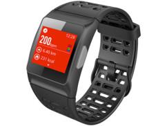 montre sport connectée avec puce gps enregistrement tracés running informations performances calories rythme cardiaque SW-250.hr