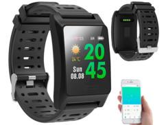 montre fitness tracker suivi sportif avec capteur gps itinéraire running vélo et ecran couleur fbt-220 newgen