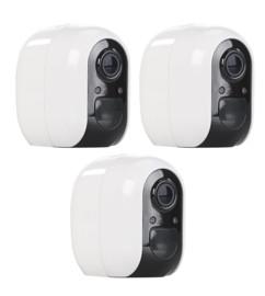Pack de 3 caméras de surveillance IP Full HD connectées IPC-480