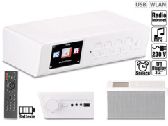 radio reveil internet dab+ fm 10w avec usb pour lecture mp3 multimedia vr-radio