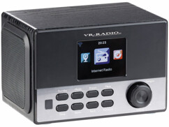 Radio-réveil stéréo Internet / DAB+ / FM et fonction chargement USB IRS-650