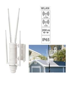 Répéteur Wi-Fi d'extérieur 1200 Mb/s, pour réseaux 2.4 et 5 GHz : WLR-1200