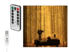 Rideau LED USB télécommandé Lunartec.