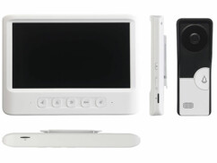 Visiophone avec grand écran couleur et fonctions ouvre-porte et enregistrement VSA-600.rec