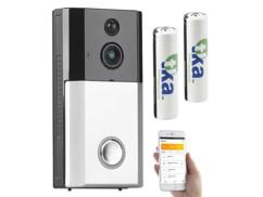 Visiophone HD sans fil connecté avec fonction interphone et 2 batteries incluses