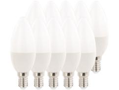 10 ampoules bougie LED E14 480 lm 270° A+ - 6 W - blanc chaud