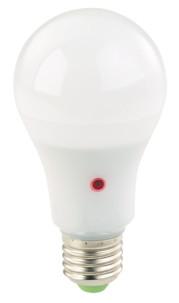 ampoule led smd e27 12w basse consommation avec détecteur d'obscurité et allumage automatique lumière blanc chaud