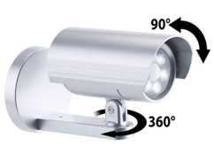 caméra de surveillance factice orientable murale