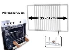 grille de four à largeur réglable 35 à 61 cm en inox