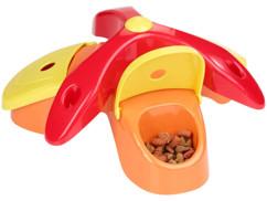 jeu d'adresse et de réflexion pour animal chien chat avec croquettes cachées récompense