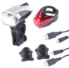 Lampe de sécurité LED avec batterie et capteur FL-412 - Avec feu arrière 150mAh