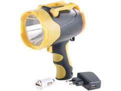 lampe torche led cree longue distance avec batterie interne et chargeurs secteur 230v et allume cigare 12v fournis lunartec tl 630