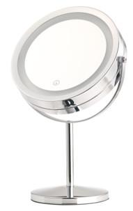 Miroir grossissant lumineux LED double face - À pied