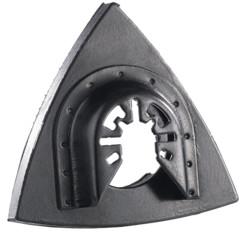 Plateau de poncage en triangle 80 mm pour outils multifonctions toutes marques