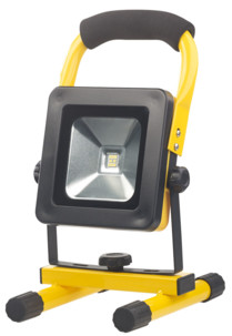 Projecteur de chantier LED sans fil 10 W avec triple alimentation