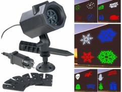 Projecteur LED RVBB 4,6 W indoor/outdoor 5 motifs lumineux