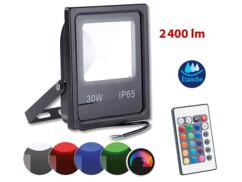 Projecteur résistant aux intempéries à LED SMD RVB  30 W /2400 lm, IP65