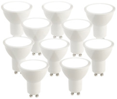 Spot LED GU10 6 W / 480 lm - blanc froid - x10