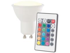 Spot LED GU10 RVB & blanc chaud avec télécommande