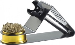 Support compact pour fer à souder - Avec éponge métallique