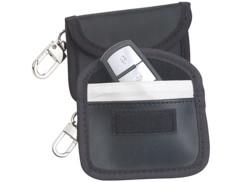 2étuis pour clés de voiture avec protection RFID.