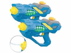 2 pistolets à eau motorisés lumineux avec réservoir de 450 ml