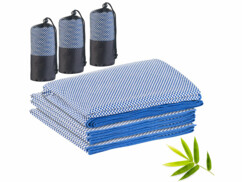 Lot de 3 serviettes Pearl en fibres de bambou.