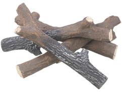 Branches décoratives en céramique pour fausse cheminée.