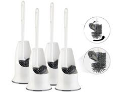 4 brosses WC en silicone à tête remplaçable WG-90