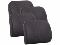 4 coussins ergonomiques dorsaux en mousse à mémoire de forme avec sangle
