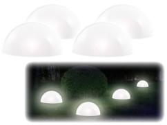 4 demi-sphères solaires à LED avec capteur d'obscurité