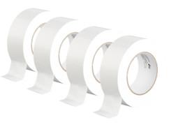 4 rubans adhésifs 50m résistants aux déchirures - Blanc