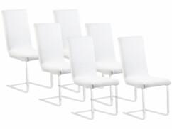 6housses de chaise extensibles et écologiques - Blanc