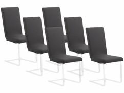 6housses de chaise extensibles et écologiques - Noir