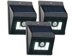 Applique solaire à LED 180 lm avec détecteurs de mouvement/obscurité - x3