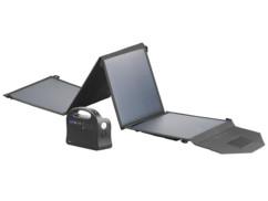 Batterie nomade 24A de marque Revolt avec panneau solaire pliable 50 W.