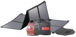 Batterie nomade 80 Ah & convertisseur solaire avec prises 230 V / 12 V / USB