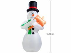 Bonhomme de neige animé grelottant 1,80 m autogonflant