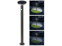 borne lumineuse de jardin avec chargeur solaire et detecteur mouvement obscurité swl600
