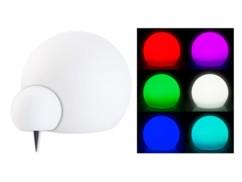 Boule à LED solaire de Ø 20 cm par Lunartec.