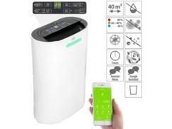 déshumidificateur automatique avec purificateur d'air UV et application de controle a distance LFT-420 sichler