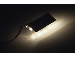 Dispositif d'éclairage pour vitrine - 4 pinces et 12 LED - blanc chaud