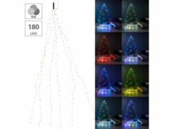 Guirlande lumineuse 6 fils avec 180 LED Lunartec pour des effets lumineux multicolores.